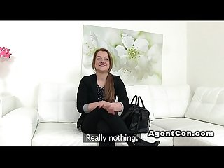 Fake agent recording fuck with brunette