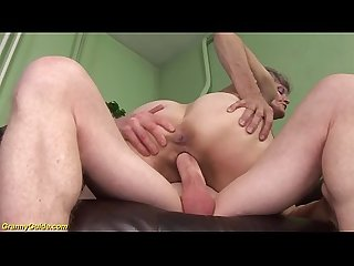 Strong big cock for a 76 years old granny