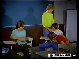 Classroom orgy from kept after school 1982