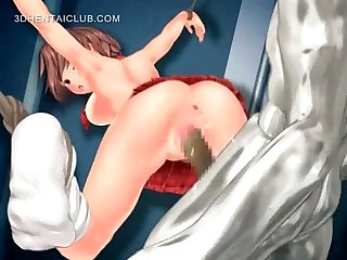 Anime sex slave cunt fucked by monster cock