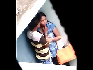 Indian couple cought in rain