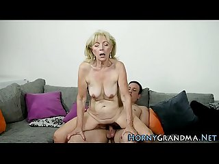 Ass fucked granny jizzed