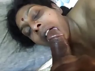 Renu sucking big black penis of her husband new