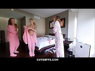 Lucky Brother Wakes Up And Fucks His Sisters Hot Best Friends Liza Rowe And Shyla Ryder During..