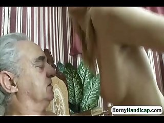 Horny old dick gets to fuck a younger slutty babe-hi-1
