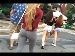 Teen leggings candid 2