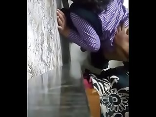 Southindian mallu it professional girl sex with office guy standing near wall