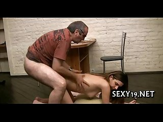 Hot riding with older teacher