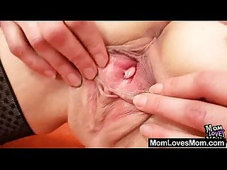 Two mommy amateur madams lesbian first time video