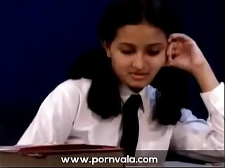 Teen indian school girl removing her school dress PART 1- pornvala.com