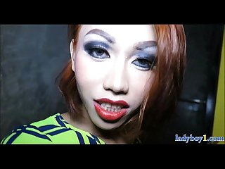 Tiny ladyboy amateur from Thailand fucked hard in the ass