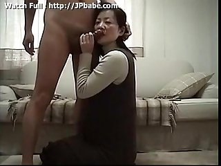 Japanese Wife serving nice Blowjob to husband watch full http jpbabe com