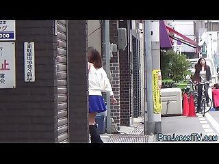 Japanese babe urinating