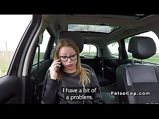 Blonde fucking fake cop to avoid penalty