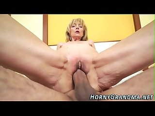 Blonde grandma creamed