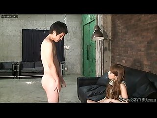Cfnm japanese femdom ruri like to watch a young naked man masturbates