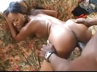 Ebony Teen Cheerleader Divine gives Wesley Pipes some young tight pussy