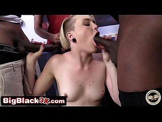 Miley cyrus lookalike 2 big black cocks and cuckold bf feat miley may