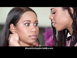 Bratty ebony teen lesbian lovers Jenna foxx kira noir get it on