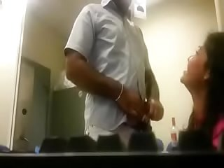 Hot girl in office with boss