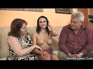 She is riding my dad S cock