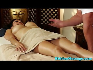 Bigtits asian babe banged by lucky masseur