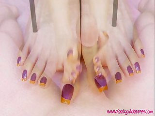 French pedicure footjob