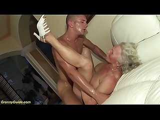 Crazy 75 years Old grandma first porn Video