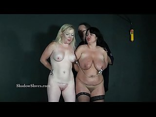 Two Amateur Bdsm slaves tit tortured and cruel domination of blonde submissive A