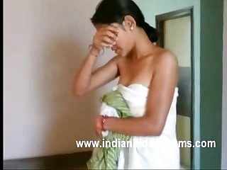Newly married young indian wife feeling shy when her hubby Recording her naked