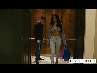 LoveHerFeet - Sexy Sophia Leone Deepthroats & Rides A Big Dick