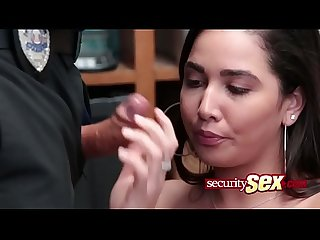 Karlee grey pounding by security guard