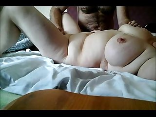 Chubby MILF with big tits