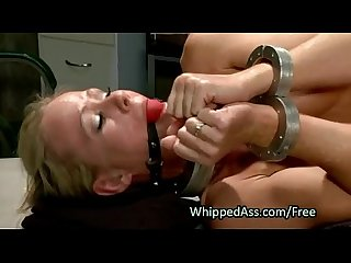Redhead cop whips ass to blonde milf