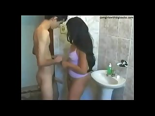 young Indian sister sex in bathroom withe slim brother