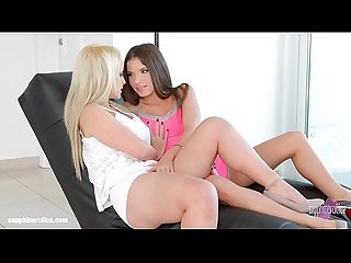 Hot lesbians Anita B and Nina Trevino have sex on Sapphic Erotica