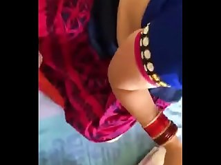 Bhabhi in saree suck and then gets fucked in doggy style