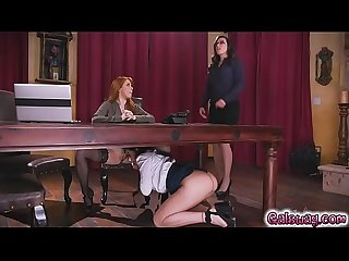 Lady boss caught at the office 2