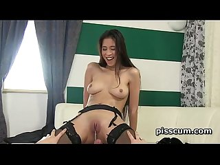 Cock riding Paula Shy pissing and squirting