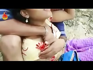 Hot desi couple boob pressing