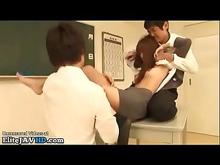 Japanese teacher hardcore sex in classroom