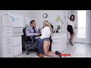 MILF teaches young secretary to fuck BOSS