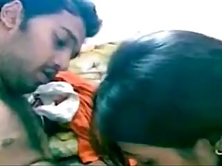 Indian Tamil girl sucks and fucks Tamil indian