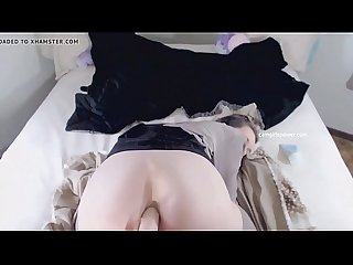 Schoolgirl Does Anal With Dildo And Creams All Over It ( Camgirlspower.com )