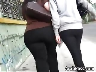 Arab With A Huge Ass In Tight Black Pants