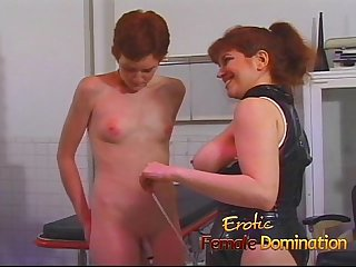 Sexy slave helps her mistress dominate another helpless babe 6