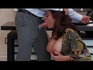 mother sucking and mouth fucking with young boy