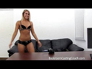 Fit babe assfucked n creampie on casting couch