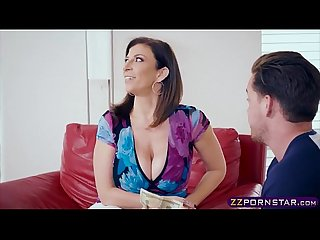 Busty MILF mom fucks with the neighbours boy for money