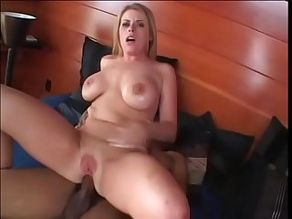 Hot sexy blonde Daphne Rosen gains skill using her huge tits, pussy and ass